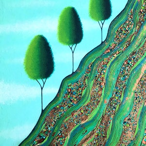 (CreativeWork) Grow Where You Are Planted by Lisa Frances Judd. arcylic-painting. Shop online at Bluethumb.