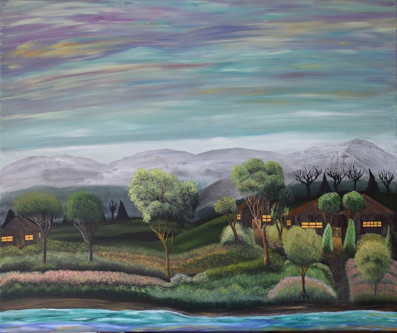 (CreativeWork) Sanctuary by Brandon Wockner. arcylic-painting. Shop online at Bluethumb.