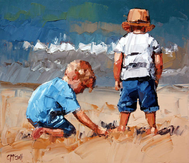 (CreativeWork) Sand Play Petite V - Limited Edition Giclee Art Print Ed. 13 of 100 by Claire McCall. print. Shop online at Bluethumb.