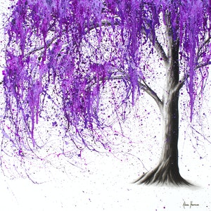 (CreativeWork) Violet Vale by Ashvin Harrison. arcylic-painting. Shop online at Bluethumb.
