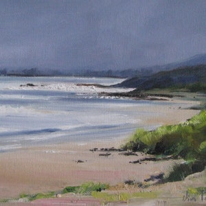 (CreativeWork) Approaching Storm, Wye River.  by Vivi Palegeorge. oil-painting. Shop online at Bluethumb.
