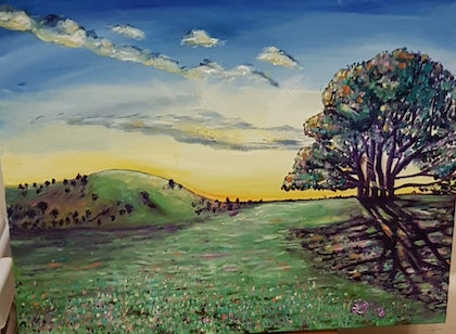 (CreativeWork) New beginnings  by Krysten Taprell. oil-painting. Shop online at Bluethumb.