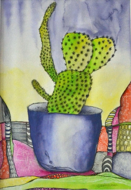 (CreativeWork) MEXICAN WAVE by GILLIAN ROULSTON. mixed-media. Shop online at Bluethumb.