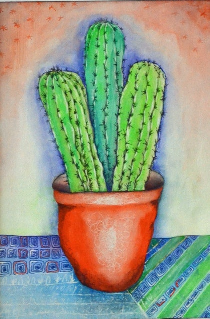 (CreativeWork) THREE AMIGOS by GILLIAN ROULSTON. mixed-media. Shop online at Bluethumb.