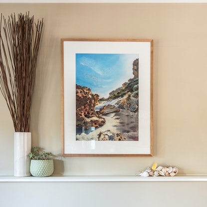 (CreativeWork) Shadowland, Ocean Grove by Giulianna Del Popolo. Drawings. Shop online at Bluethumb.