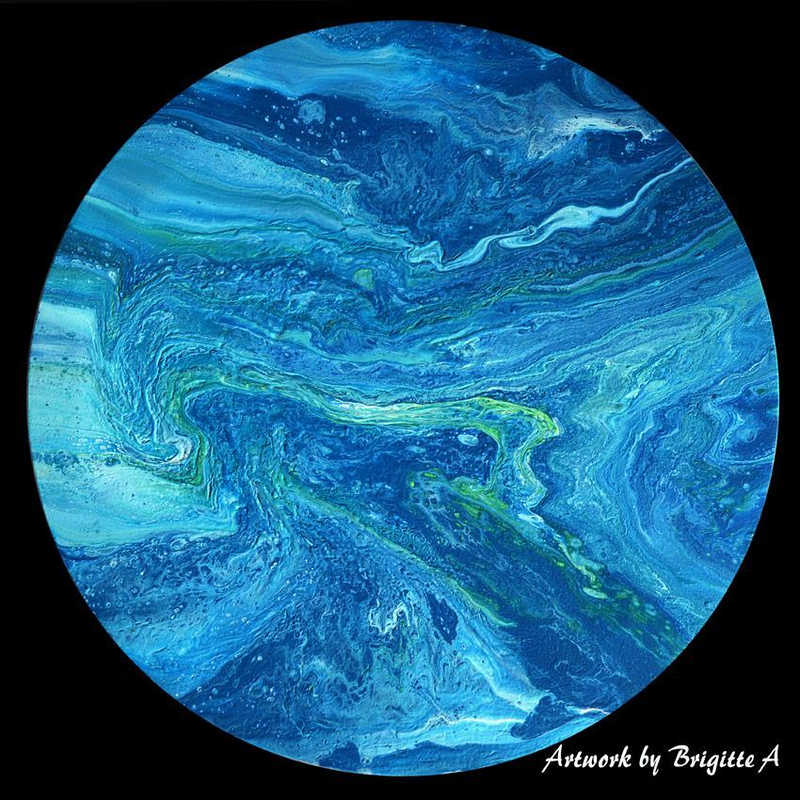 (CreativeWork) Blue Moon by Brigitte Ackland. acrylic-painting. Shop online at Bluethumb.