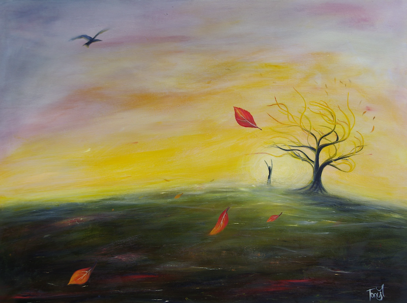 (CreativeWork) Autumn by Tony Yallop. oil-painting. Shop online at Bluethumb.