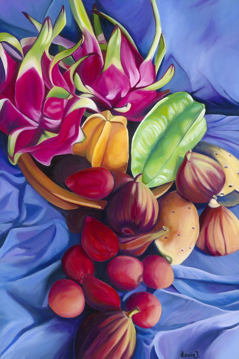 (CreativeWork) Tropical Jewels - archival quality giclee print Ed. 1 of 50 by Louise Taylor. print. Shop online at Bluethumb.