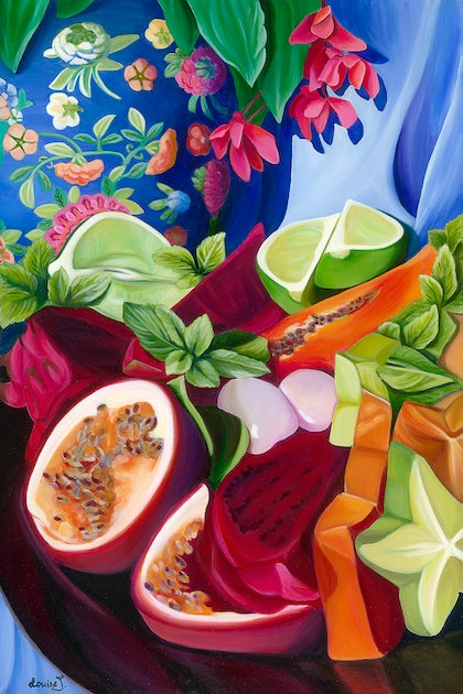 (CreativeWork) Delighting the Senses Ed. 1 of 50 by Louise Taylor. print. Shop online at Bluethumb.