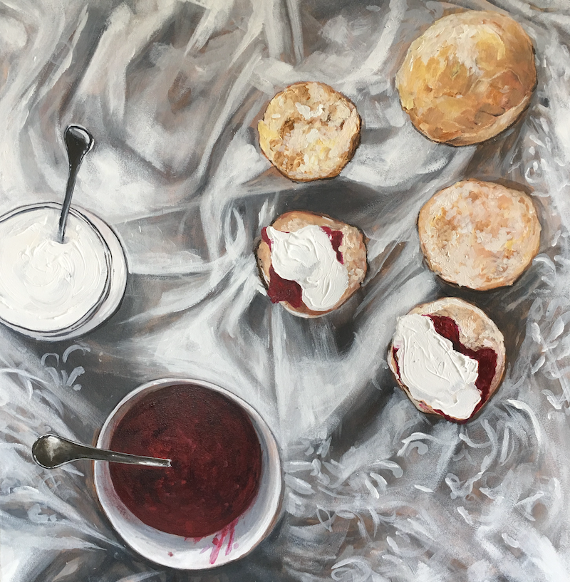 (CreativeWork) Jam & Cream  by Emma Ward. acrylic-painting. Shop online at Bluethumb.