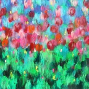 """(CreativeWork) """"The Season of Life""""- large painting - comes with certificate by Belinda Nadwie. oil-painting. Shop online at Bluethumb."""