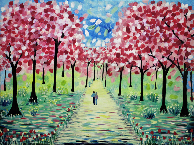 (CreativeWork) Love Blossoms by Wendy Hocking. arcylic-painting. Shop online at Bluethumb.