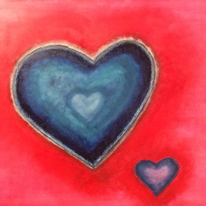 (CreativeWork) The Art of Love by Joanne Kennedy. oil-painting. Shop online at Bluethumb.