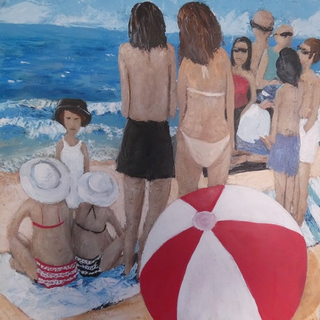 (CreativeWork) By The Sea by Margaret Burgess. Acrylic Paint. Shop online at Bluethumb.