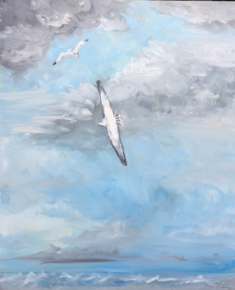 (CreativeWork) Albatross of the Sky by ZYL ZYLBAT. oil-painting. Shop online at Bluethumb.