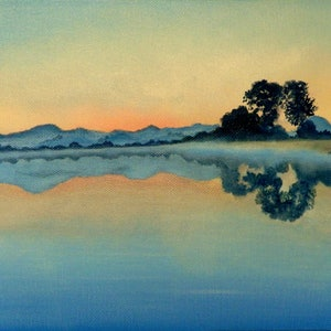 (CreativeWork) Pastel Dawn by Doodie Herman. arcylic-painting. Shop online at Bluethumb.
