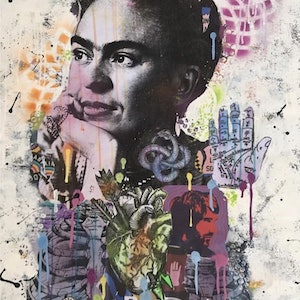 (CreativeWork) Frieda 34 by Cold Ghost. mixed-media. Shop online at Bluethumb.
