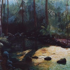(CreativeWork) Northern Stream by Paul Drought. arcylic-painting. Shop online at Bluethumb.