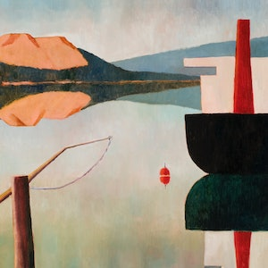 (CreativeWork) Triabunna by Colin Palethorpe. oil-painting. Shop online at Bluethumb.