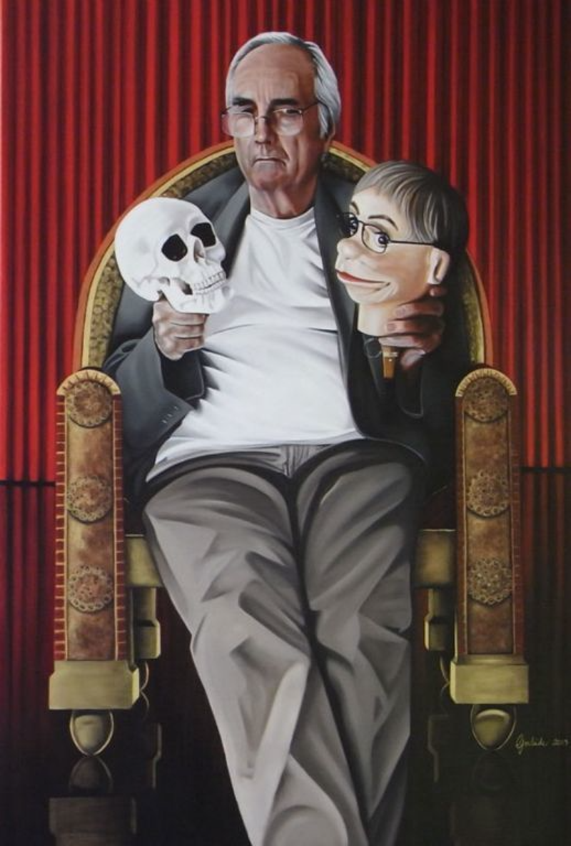 (CreativeWork) Alas, poor Yorick by Gerlinde Thomas. oil-painting. Shop online at Bluethumb.