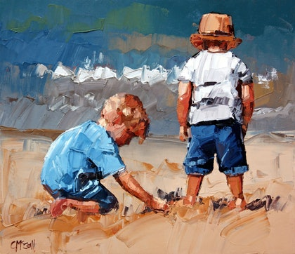 (CreativeWork) Sand Play Petite V - Limited Edition Giclee Art Print Ed. 14 of 100 by Claire McCall. print. Shop online at Bluethumb.