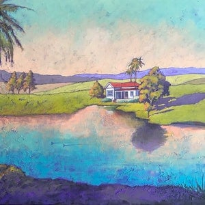 (CreativeWork) Morning Light by Mary Conder. arcylic-painting. Shop online at Bluethumb.