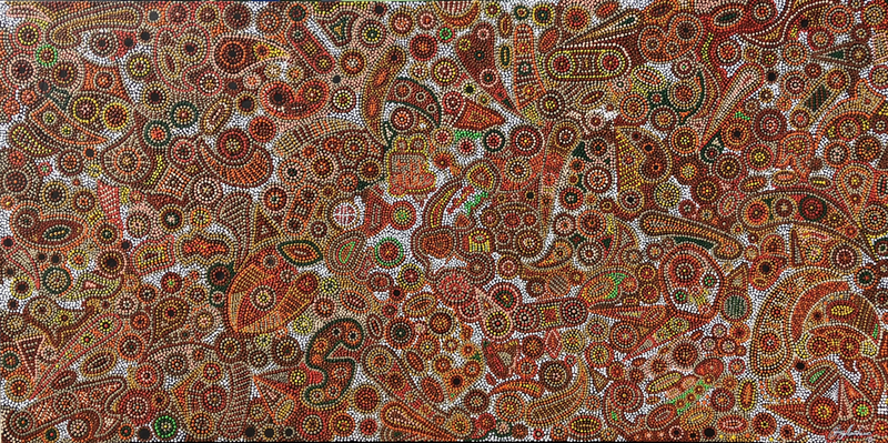 (CreativeWork) Trowunna Messages by Greg Matthews. acrylic-painting. Shop online at Bluethumb.