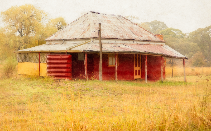 (CreativeWork) Red House by Shirley Steel. photograph. Shop online at Bluethumb.