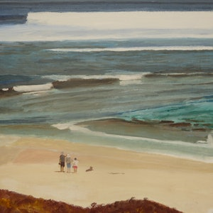 (CreativeWork) Sea View by Robin Tunnicliffe. oil-painting. Shop online at Bluethumb.