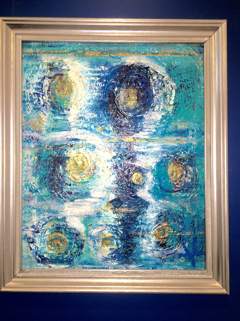 (CreativeWork) The moons by Vanessa Boll Armstrong. arcylic-painting. Shop online at Bluethumb.