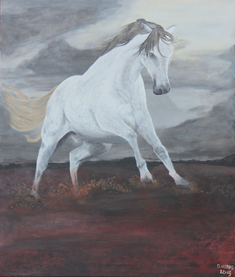 """(CreativeWork) """"Storm Fright""""  by Dennis Heape. arcylic-painting. Shop online at Bluethumb."""