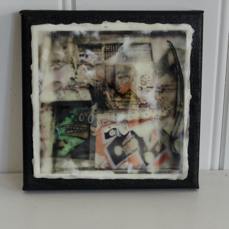 (CreativeWork) Photo Encaustic Graffiti Collage by Deb Gartland. other-media. Shop online at Bluethumb.