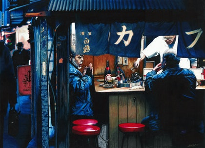 (CreativeWork) Yakitori - Large Limited Edition Print Ed. 4 of 50 by Erin Nicholls. print. Shop online at Bluethumb.