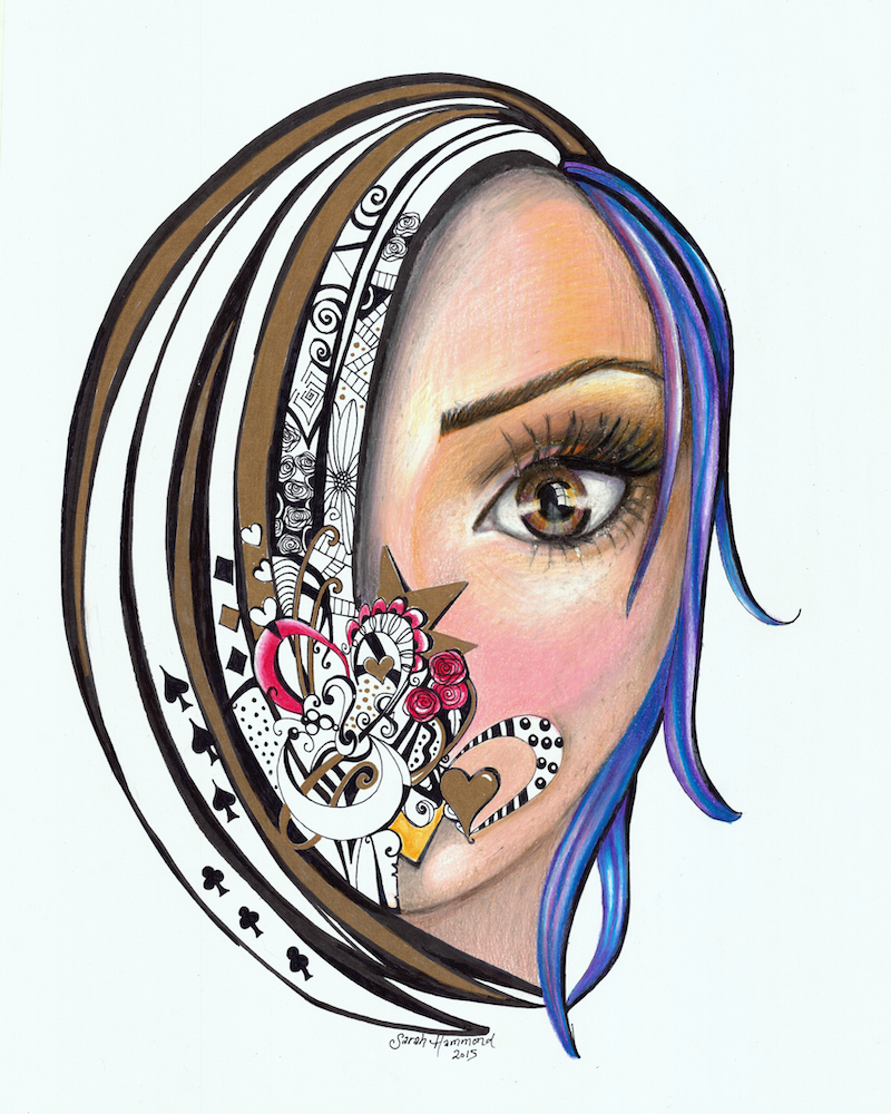 (CreativeWork) Speechless by SJ Hammond. drawing. Shop online at Bluethumb.