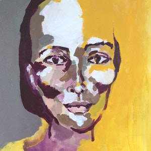 (CreativeWork) Introspection by Sharon Monagle. acrylic-painting. Shop online at Bluethumb.