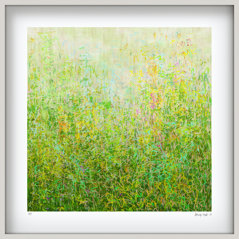 (CreativeWork) 'Summer Garden' in white box frame   Ed. 6 of 75 by George Hall. print. Shop online at Bluethumb.