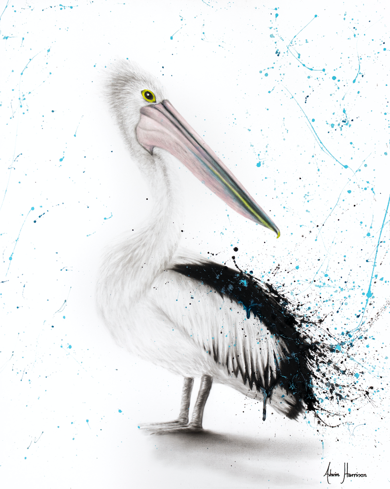 (CreativeWork) Proud Pelican by Ashvin Harrison. other-media. Shop online at Bluethumb.