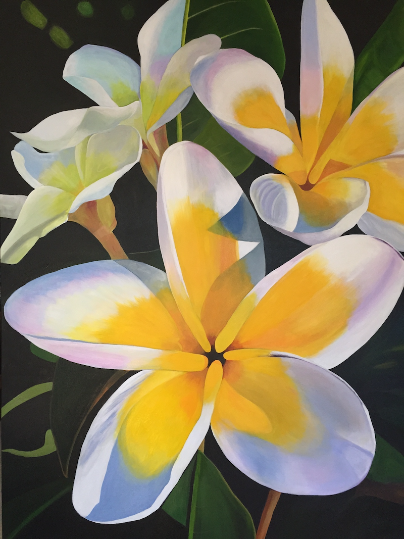 (CreativeWork) Summertime Melody by Jenny McGrath. acrylic-painting. Shop online at Bluethumb.