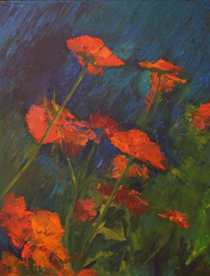 (CreativeWork) Floral Surprise by Rachael McDiarmid. acrylic-painting. Shop online at Bluethumb.