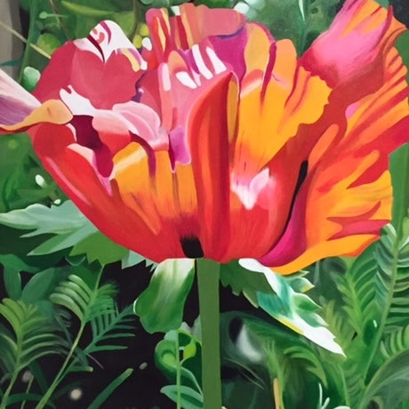 (CreativeWork) Unforgetable by Jenny McGrath. Acrylic Paint. Shop online at Bluethumb.