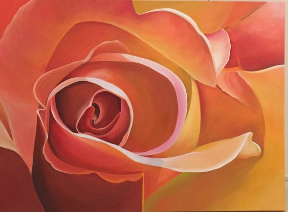 (CreativeWork) Apricot Delight by Jenny McGrath. Acrylic Paint. Shop online at Bluethumb.
