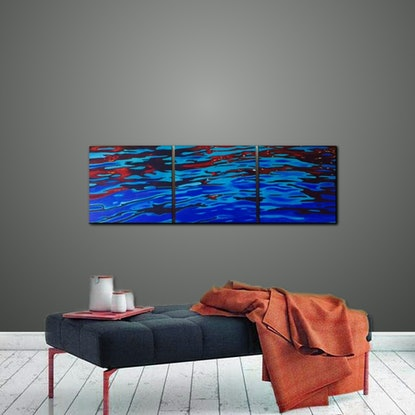 (CreativeWork) Reflections - Triptych by Jenny McGrath. #<Filter:0x00007f99658dac38>. Shop online at Bluethumb.