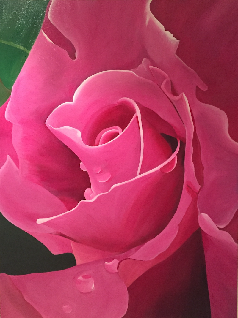 (CreativeWork) Pink Petite by Jenny McGrath. arcylic-painting. Shop online at Bluethumb.