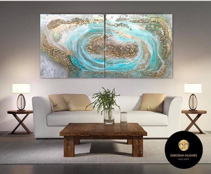 GEODE RESIN ART ABSTRACT