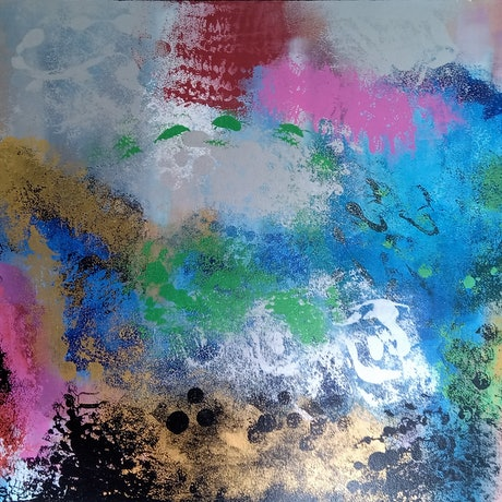 (CreativeWork) NEBULA by Thomas Robson. Acrylic Paint. Shop online at Bluethumb.