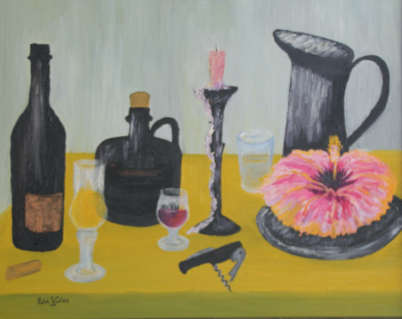 (CreativeWork) WINE, PORT & WATER by Ralph Coles. oil-painting. Shop online at Bluethumb.