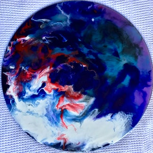 (CreativeWork) Dark side of the moon by Lucy Slaughter. resin. Shop online at Bluethumb.