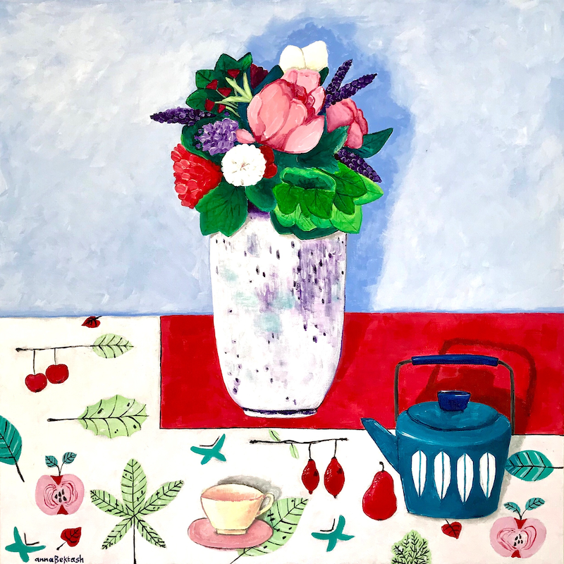 (CreativeWork) 3 to 5 Minutes by Anna Bektash. acrylic-painting. Shop online at Bluethumb.