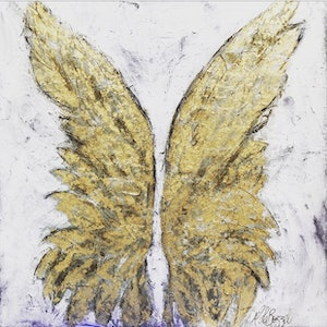(CreativeWork) Angels Everywhere - Original Artwork by Melissa LaBozzetta by Melissa La Bozzetta. mixed-media. Shop online at Bluethumb.