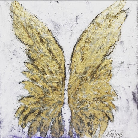 (CreativeWork) Angels Everywhere - Original Artwork by Melissa LaBozzetta by Melissa La Bozzetta. Mixed Media. Shop online at Bluethumb.